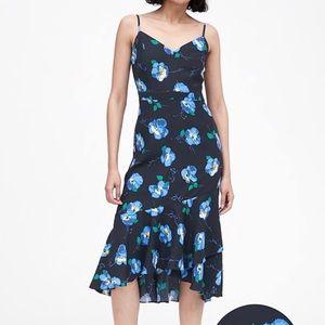 Banana Republic Print Midi Sheath Dress